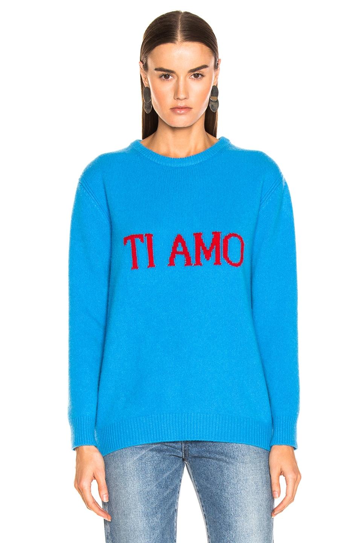 Image 2 of ALBERTA FERRETTI Ti Amo Sweater in Blue