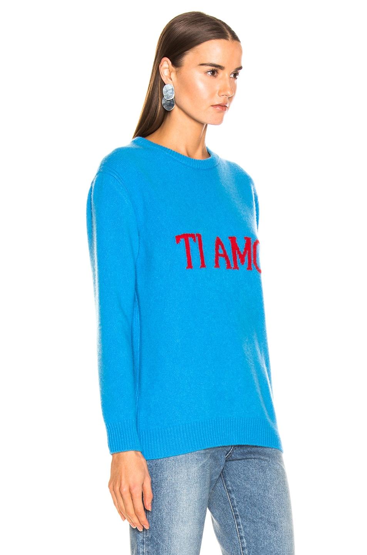 Image 3 of ALBERTA FERRETTI Ti Amo Sweater in Blue