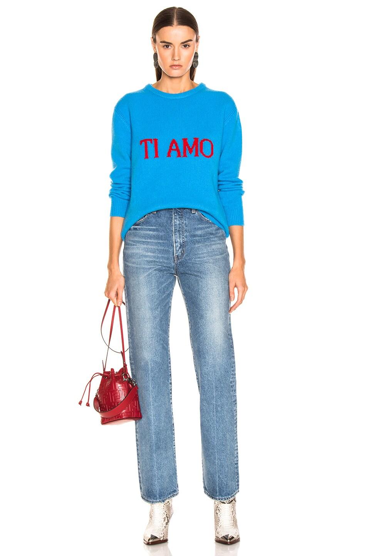 Image 5 of ALBERTA FERRETTI Ti Amo Sweater in Blue