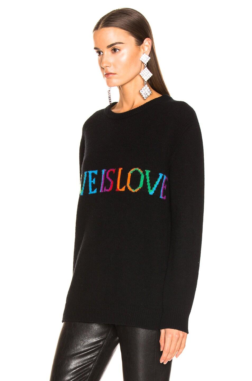 Image 3 of ALBERTA FERRETTI Love is Love Sweater in Black