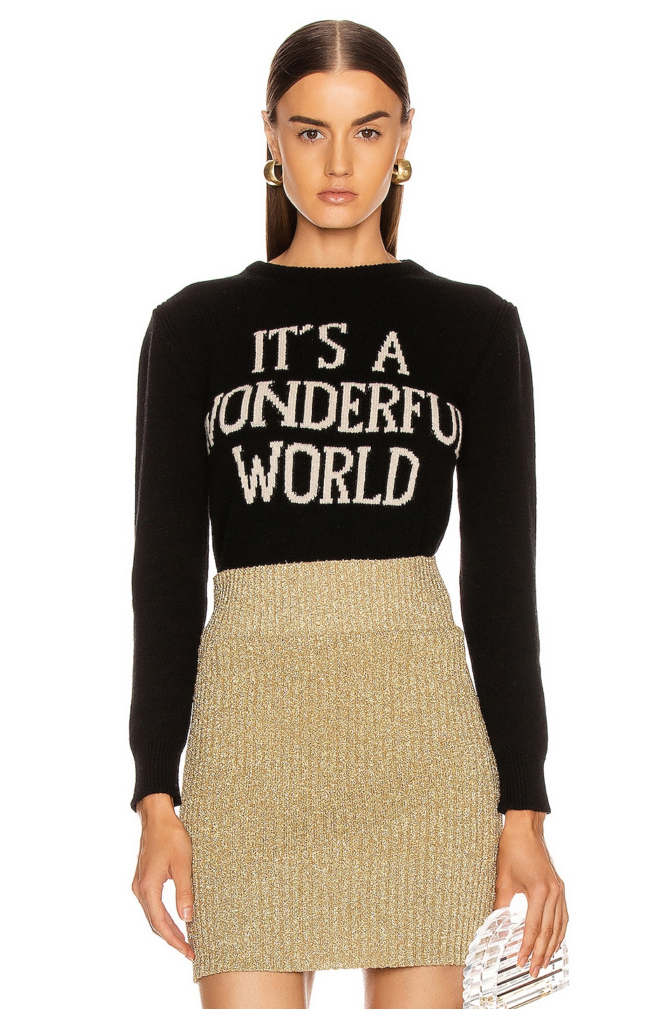 Image 1 of ALBERTA FERRETTI It's A Wonderful World Sweater in Black