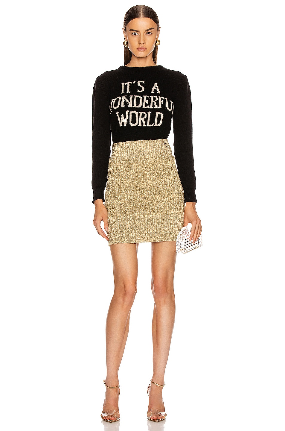 Image 4 of ALBERTA FERRETTI It's A Wonderful World Sweater in Black