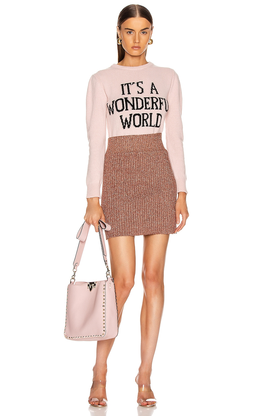 Image 4 of ALBERTA FERRETTI It's A Wonderful World Sweater in Pink