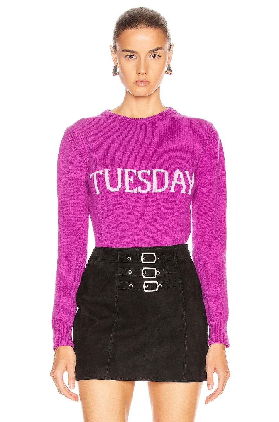 Image 1 of ALBERTA FERRETTI Tuesday Sweater in Fantasy Violet