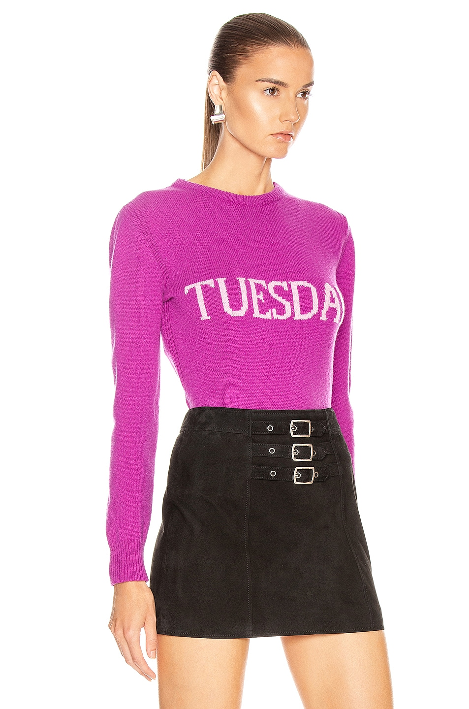 Image 2 of ALBERTA FERRETTI Tuesday Sweater in Fantasy Violet