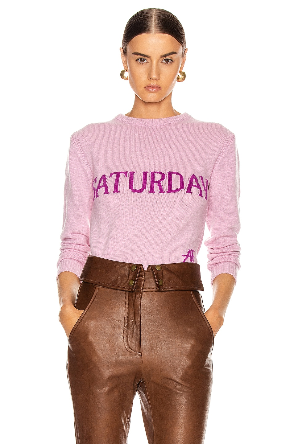 Image 1 of ALBERTA FERRETTI Saturday Sweater in Fantasy Pink
