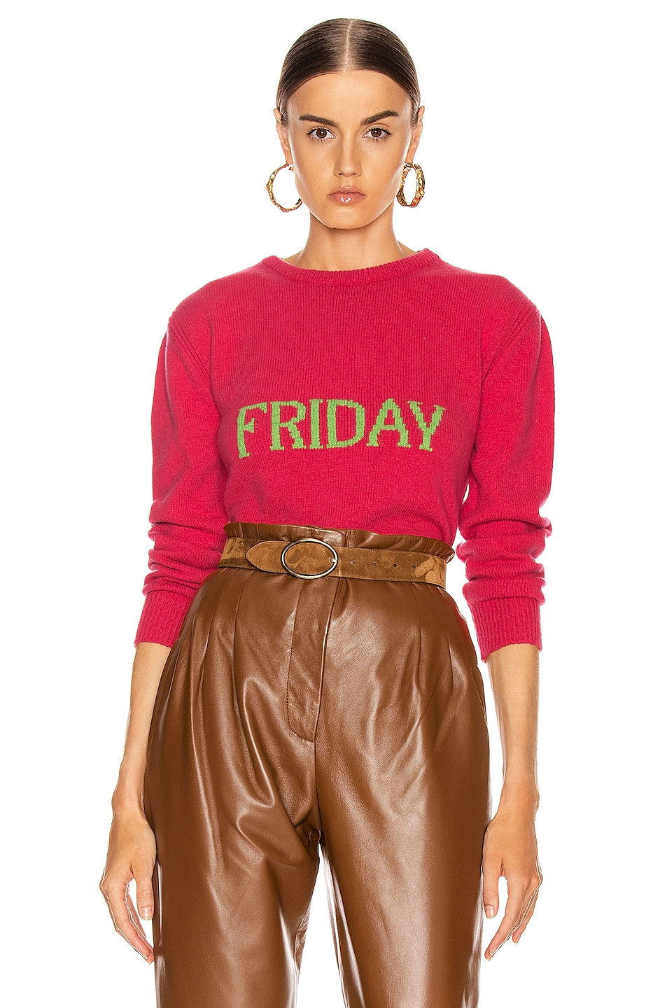 Image 1 of ALBERTA FERRETTI Friday Sweater in Fantasy Fuchsia