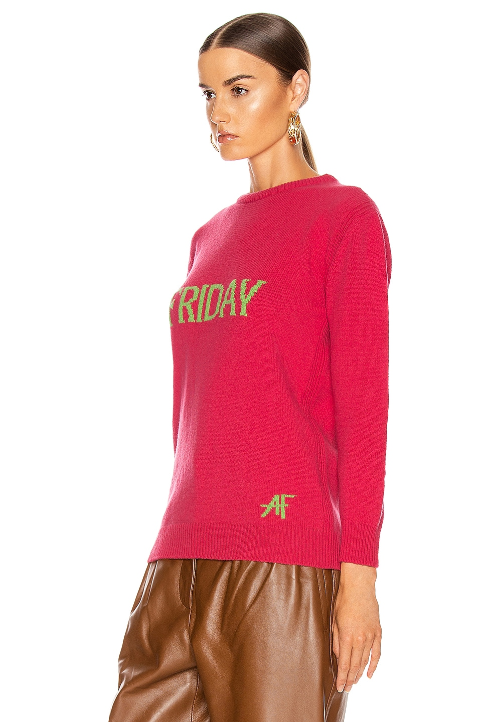 Image 3 of ALBERTA FERRETTI Friday Sweater in Fantasy Fuchsia