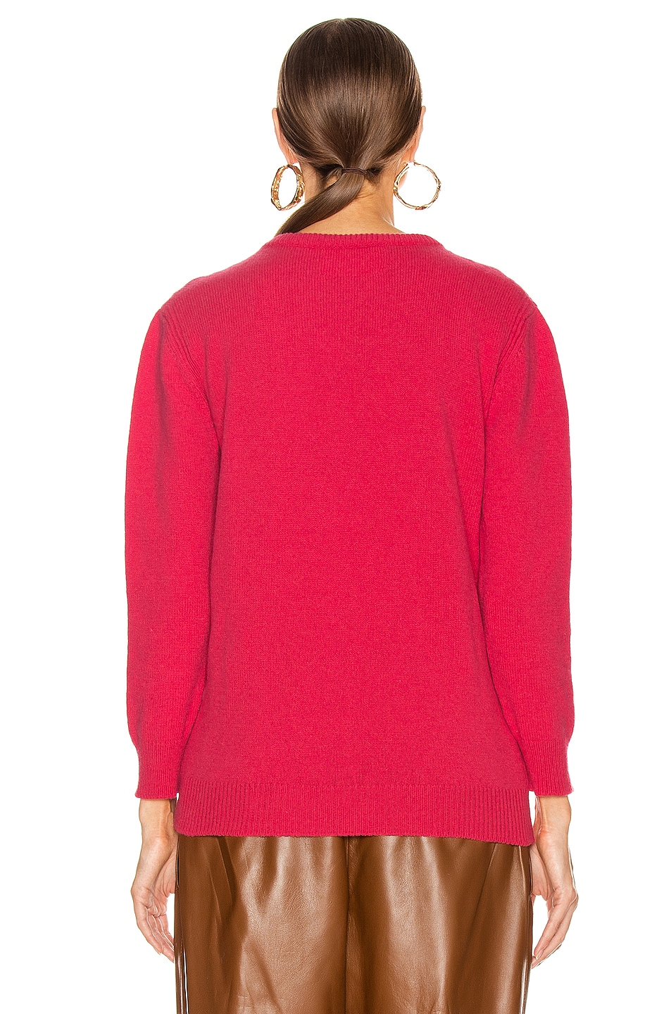 Image 4 of ALBERTA FERRETTI Friday Sweater in Fantasy Fuchsia