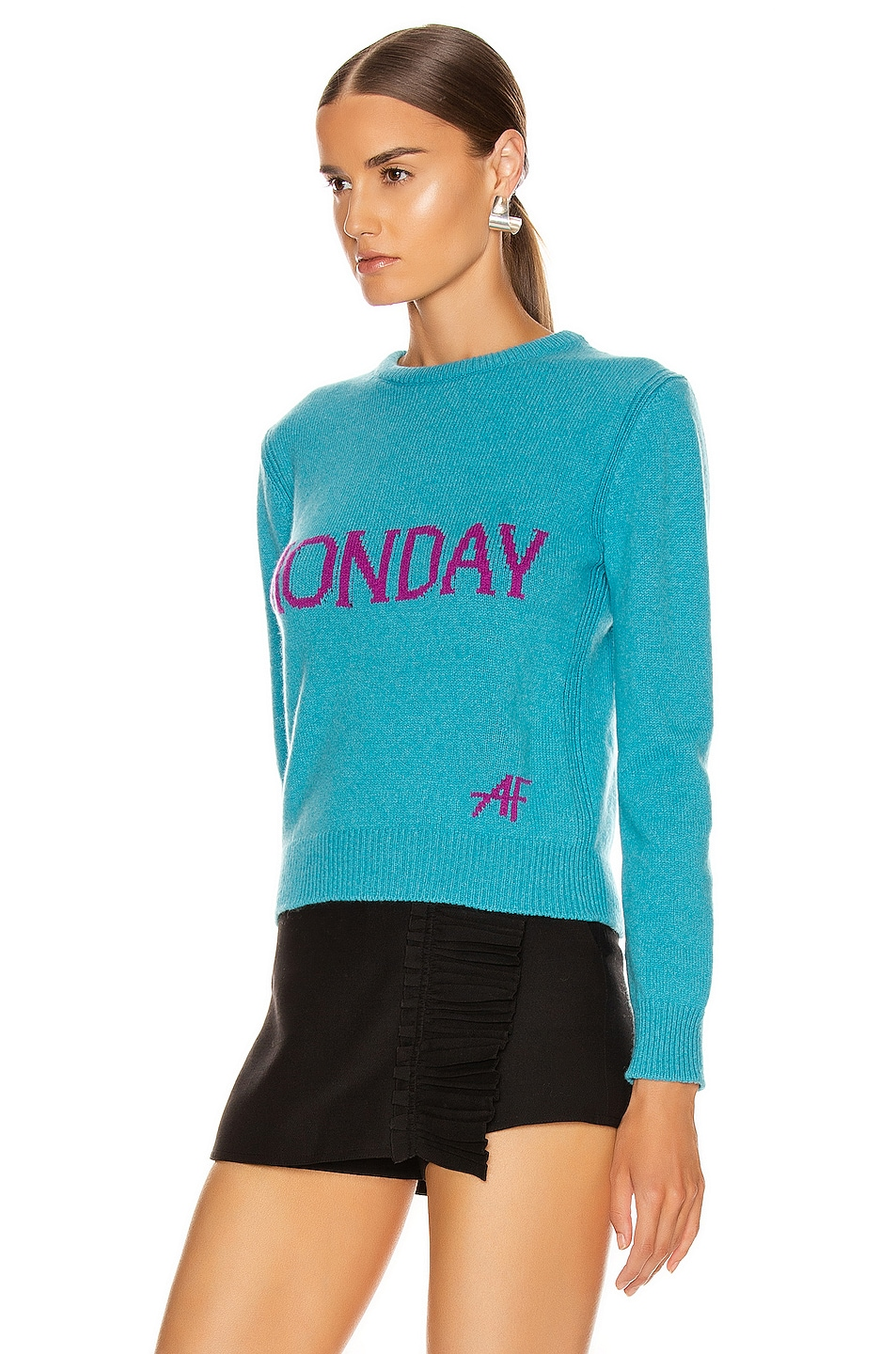Image 3 of ALBERTA FERRETTI Monday Sweater in Fantasy Blue