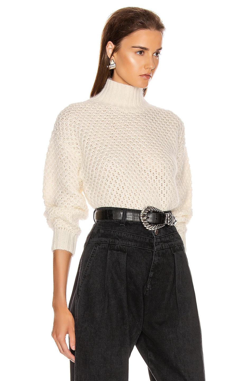 Image 2 of ALBERTA FERRETTI Chunky Sweater in White