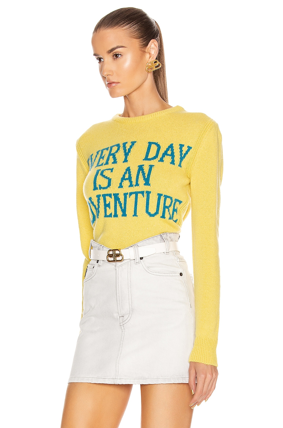 Image 3 of ALBERTA FERRETTI Everyday Is An Adventure Sweater in Yellow & Blue