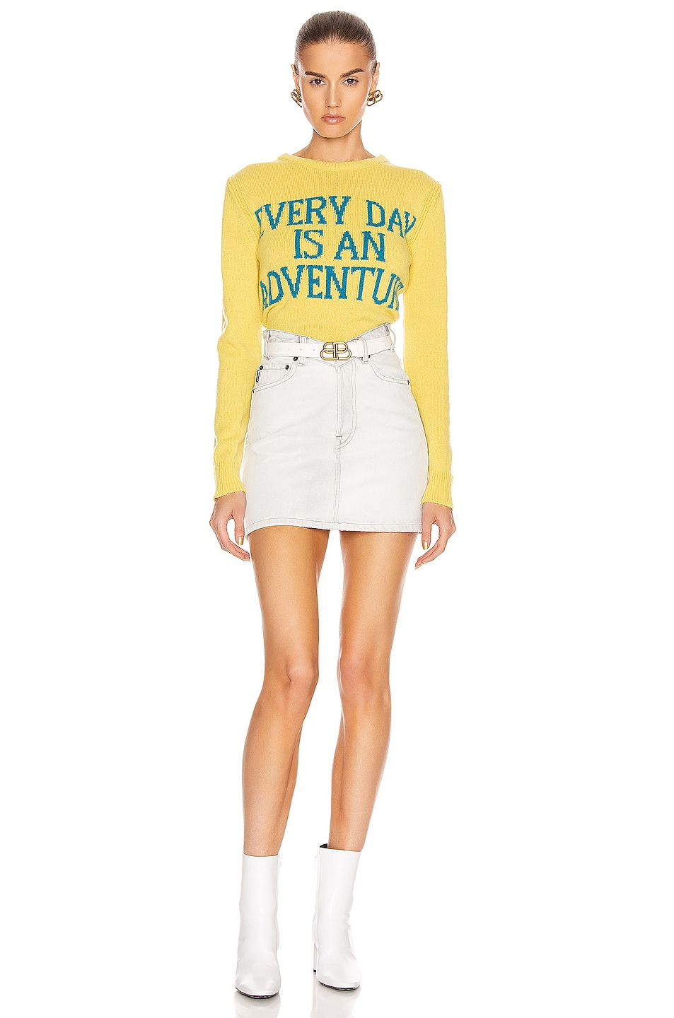Image 5 of ALBERTA FERRETTI Everyday Is An Adventure Sweater in Yellow & Blue