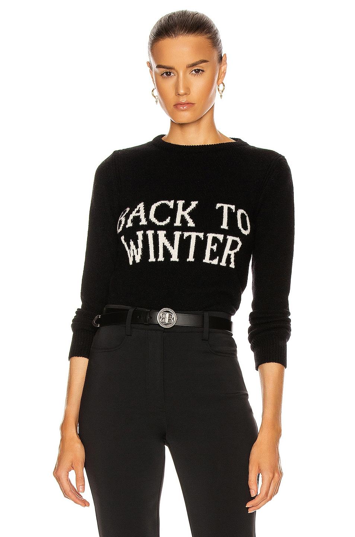 Image 1 of ALBERTA FERRETTI Back To Winter Sweater in Black