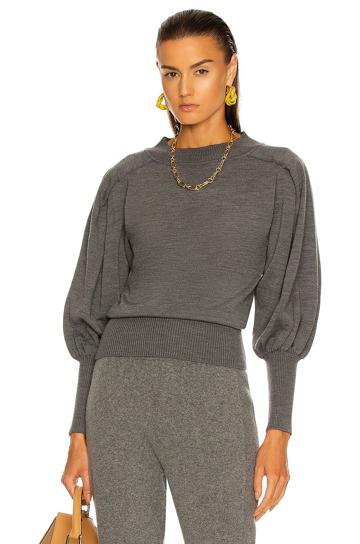 Image 1 of ALBERTA FERRETTI Voluminous Sleeve Sweater in Grey