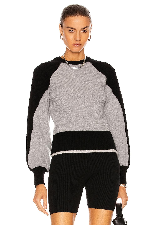 Image 1 of ALBERTA FERRETTI Two Tone Sweater in Grey and Black