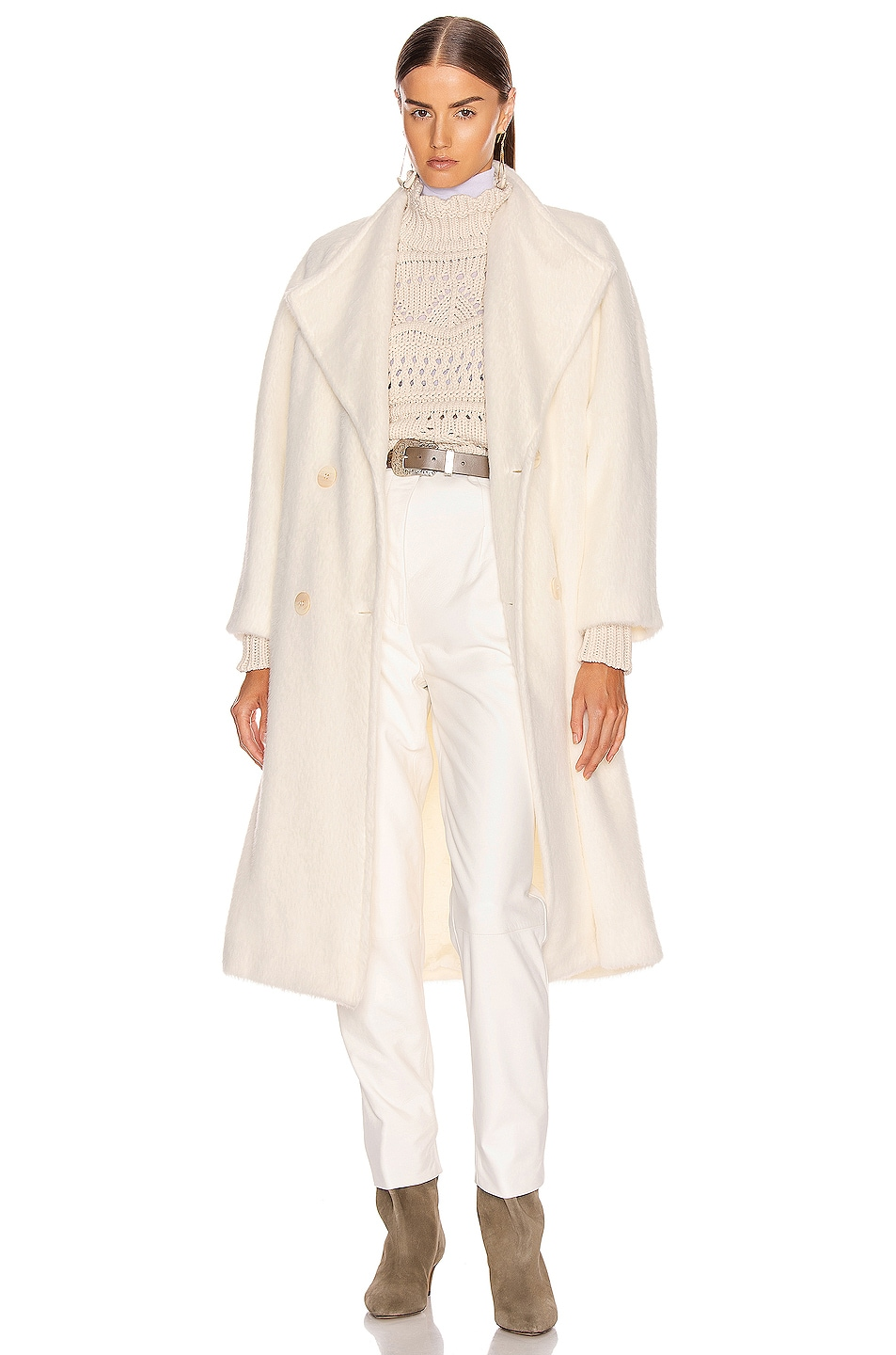 Image 1 of ALBERTA FERRETTI Long Coat in White