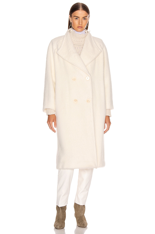 Image 2 of ALBERTA FERRETTI Long Coat in White