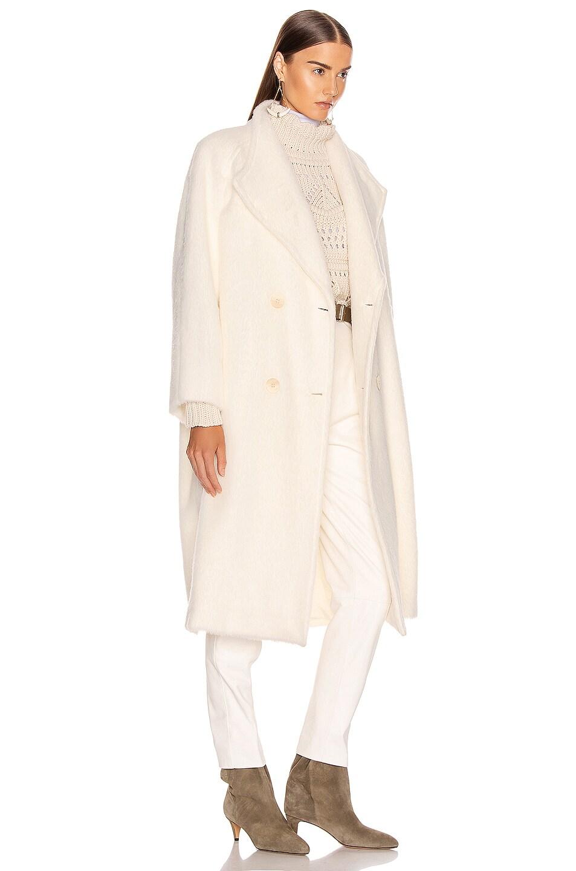 Image 3 of ALBERTA FERRETTI Long Coat in White