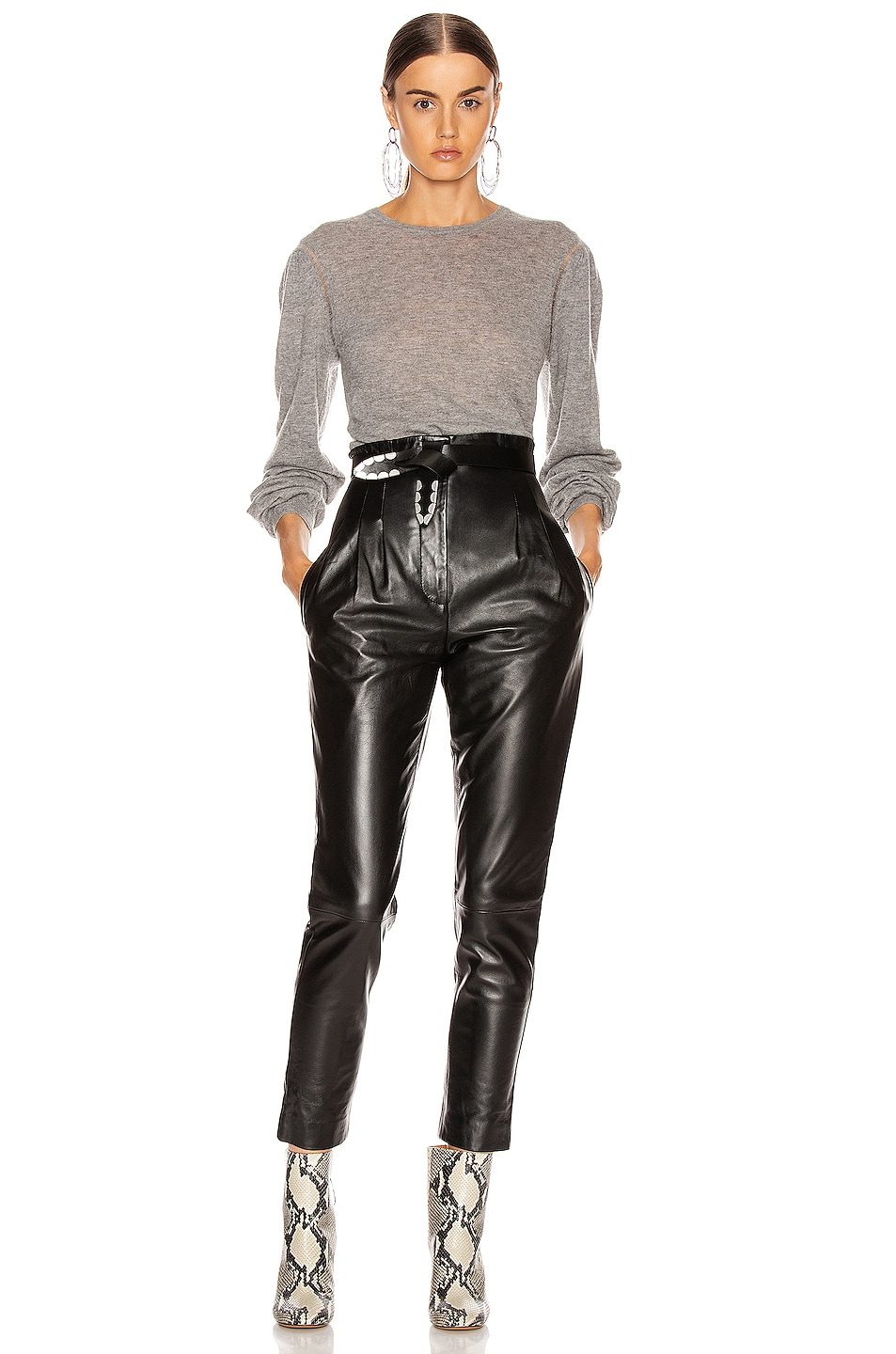 Image 4 of ALBERTA FERRETTI High Waisted Pant in Black