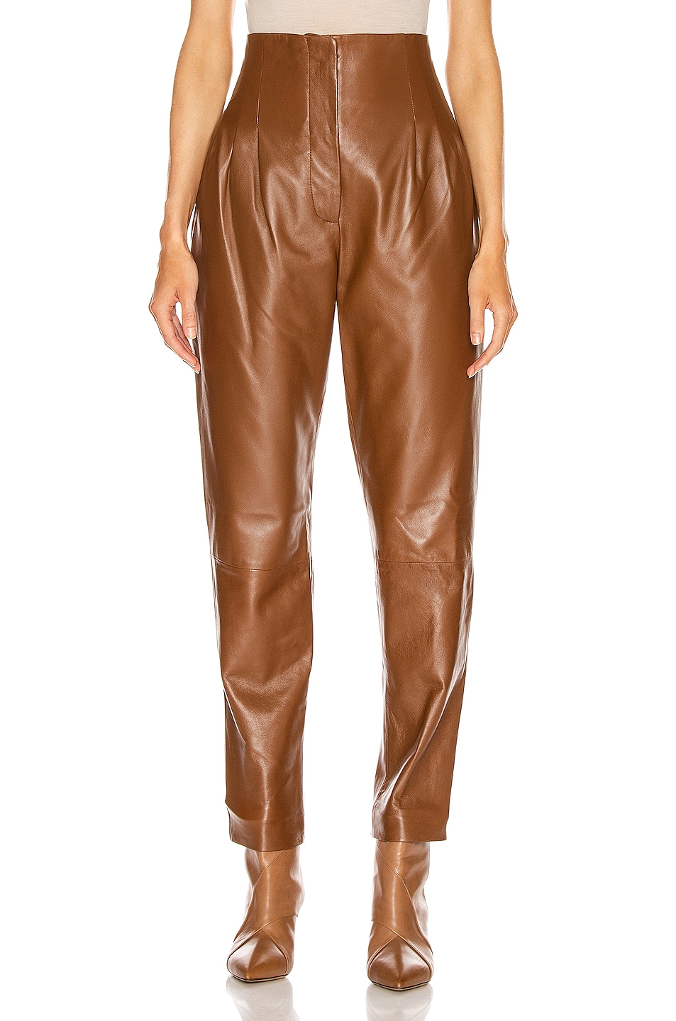 Image 1 of ALBERTA FERRETTI High Waisted Pant in Brown