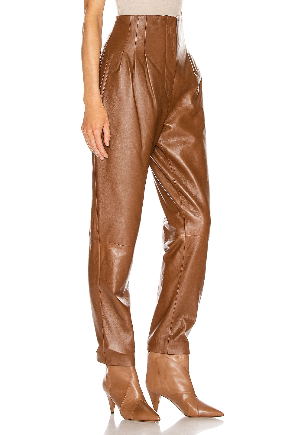 Image 2 of ALBERTA FERRETTI High Waisted Pant in Brown