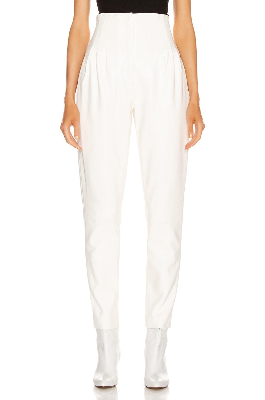 Image 1 of ALBERTA FERRETTI Leather Pant in White