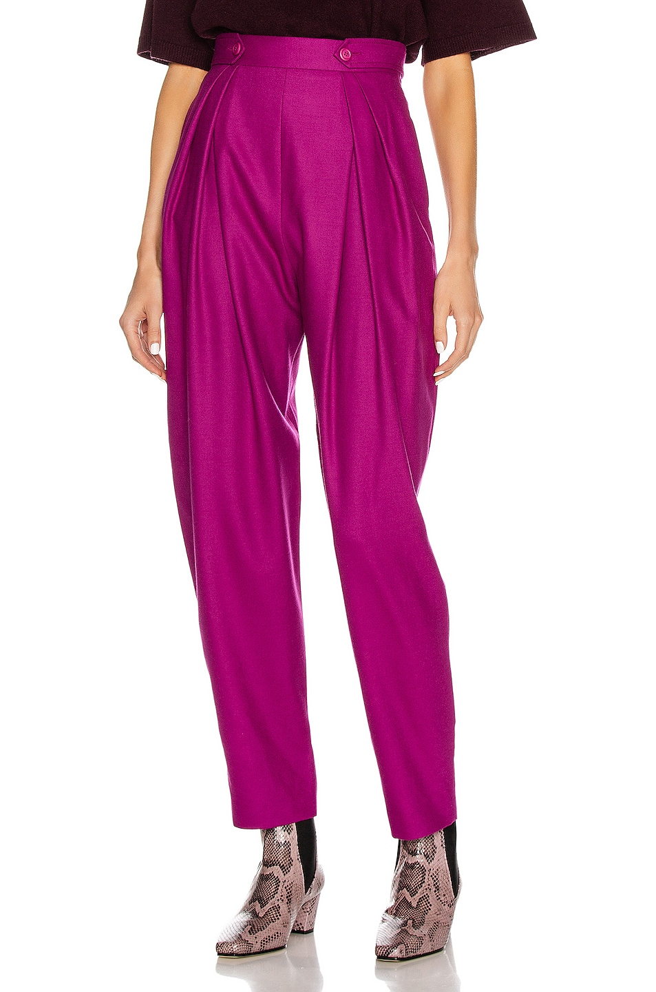 Image 1 of ALBERTA FERRETTI High Waisted Pant in Fuchsia