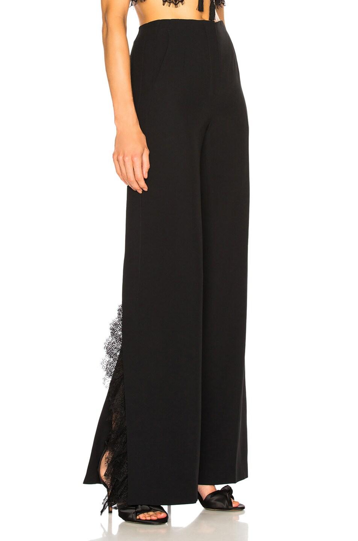 Image 2 of ALBERTA FERRETTI Lace Trim Wide Leg Pants in Black