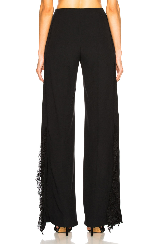 Image 4 of ALBERTA FERRETTI Lace Trim Wide Leg Pants in Black