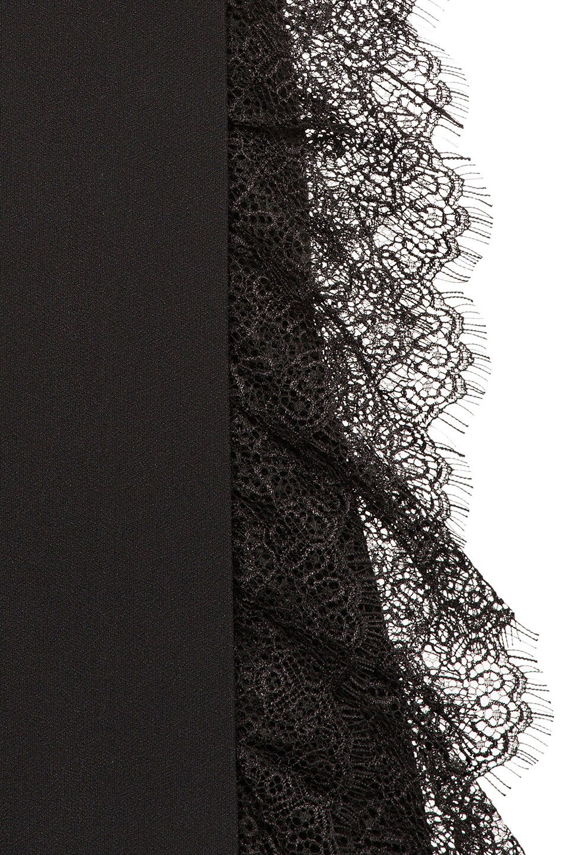 Image 6 of ALBERTA FERRETTI Lace Trim Wide Leg Pants in Black