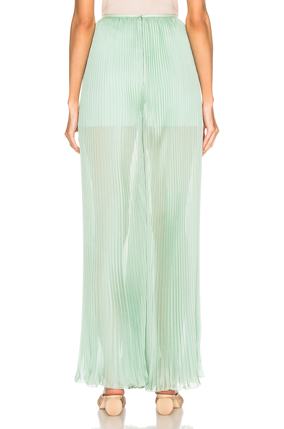 Image 3 of ALBERTA FERRETTI Pleated Pant in Green