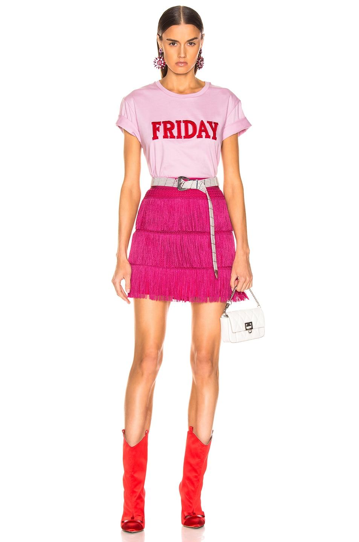 Image 4 of ALBERTA FERRETTI Fringe Skirt in Pink