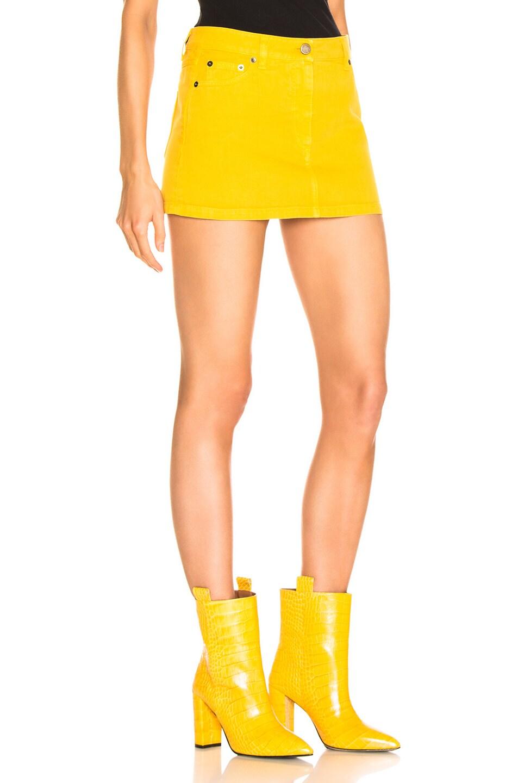 Image 2 of ALBERTA FERRETTI Denim Mini Skirt in Yellow