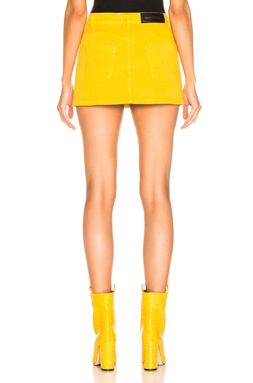 Image 3 of ALBERTA FERRETTI Denim Mini Skirt in Yellow