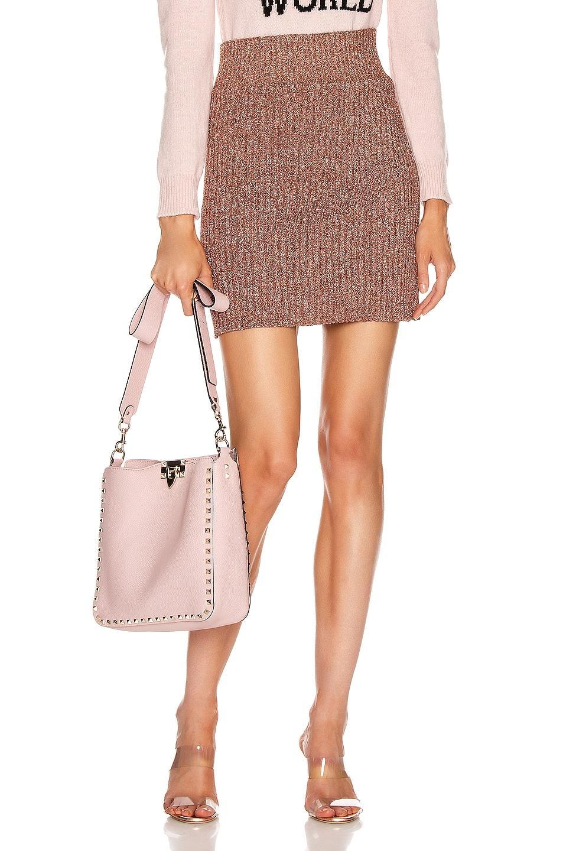Image 1 of ALBERTA FERRETTI Shiny Mini Skirt in Pink