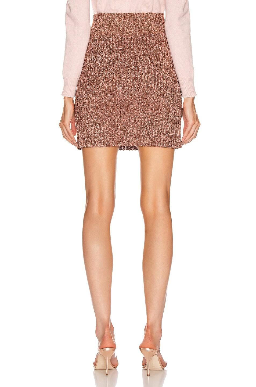 Image 3 of ALBERTA FERRETTI Shiny Mini Skirt in Pink