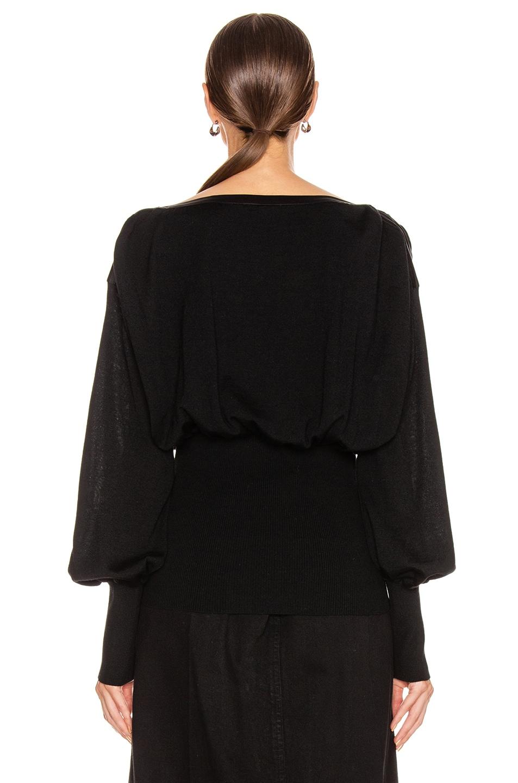 Image 4 of ALBERTA FERRETTI Tie Keyhole Blouse in Black