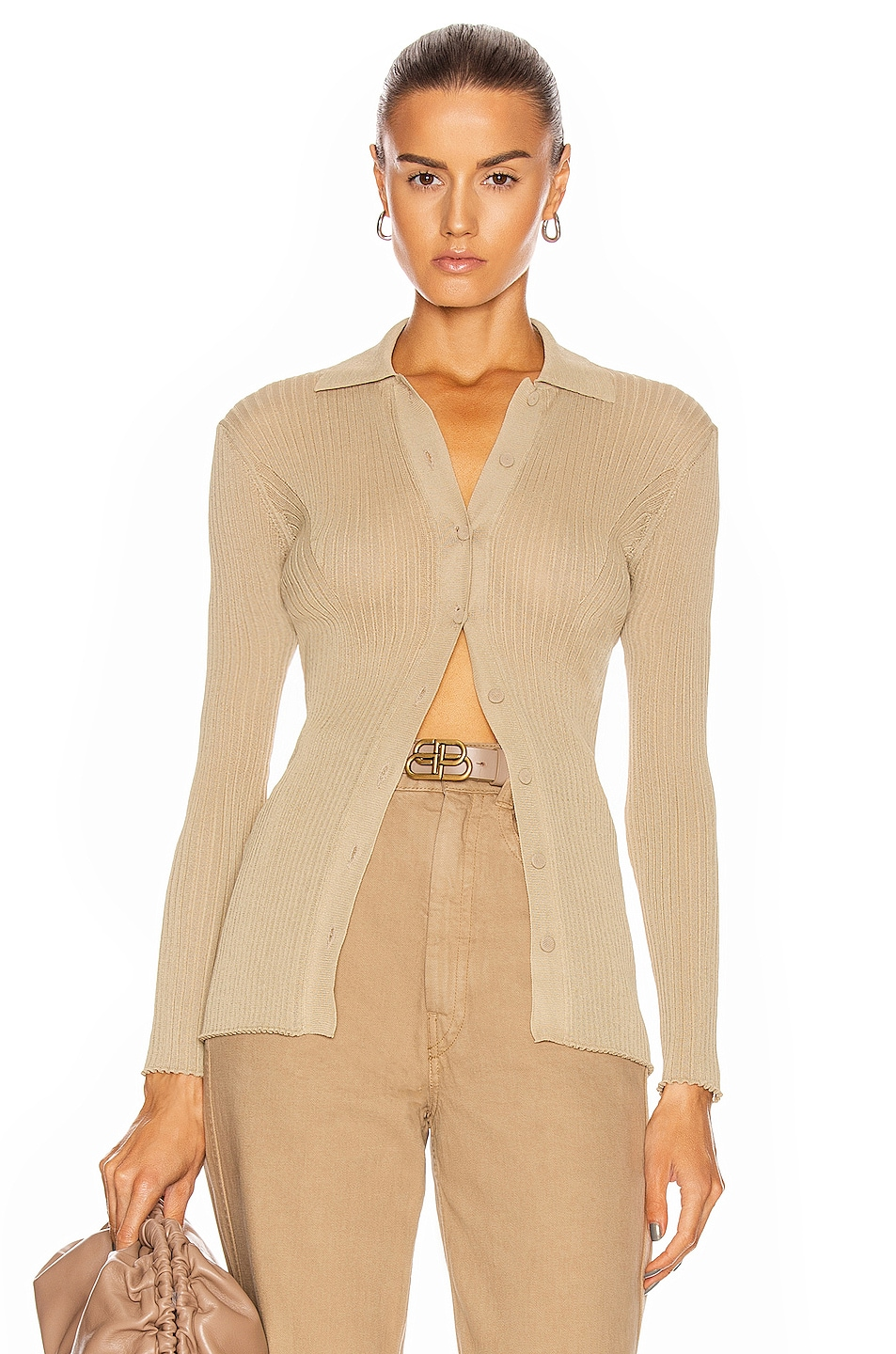 Image 1 of ALBERTA FERRETTI Long Sleeve Top in Light Brown
