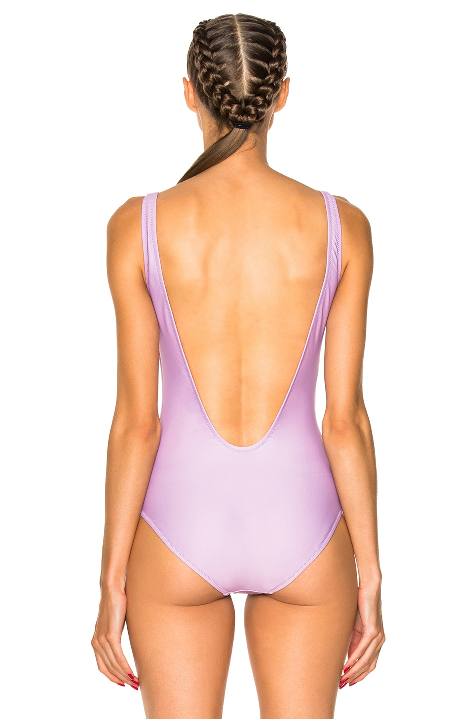 Image 5 of ALBERTA FERRETTI Monday Swimsuit in Mauve & Water Green