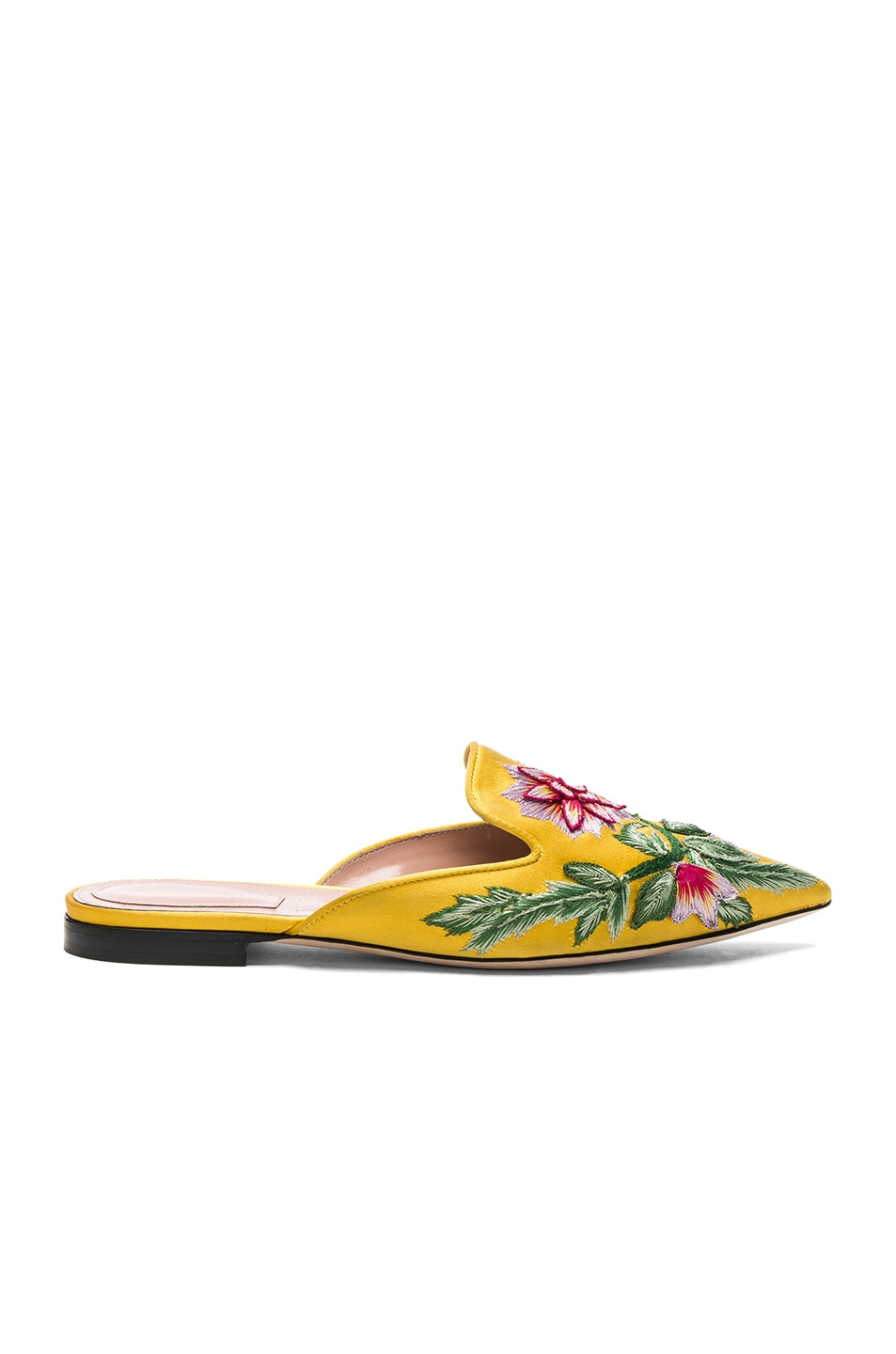 Image 1 of ALBERTA FERRETTI Embroidered Mules in Gold