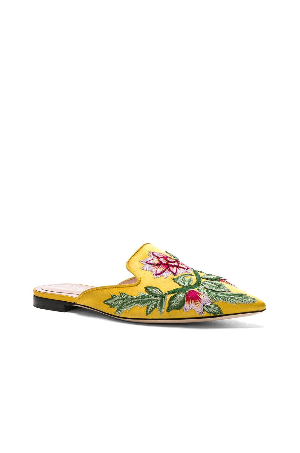 Image 2 of ALBERTA FERRETTI Embroidered Mules in Gold