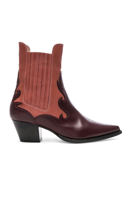 Image 1 of ALBERTA FERRETTI Western Boots in Burgundy & Pink