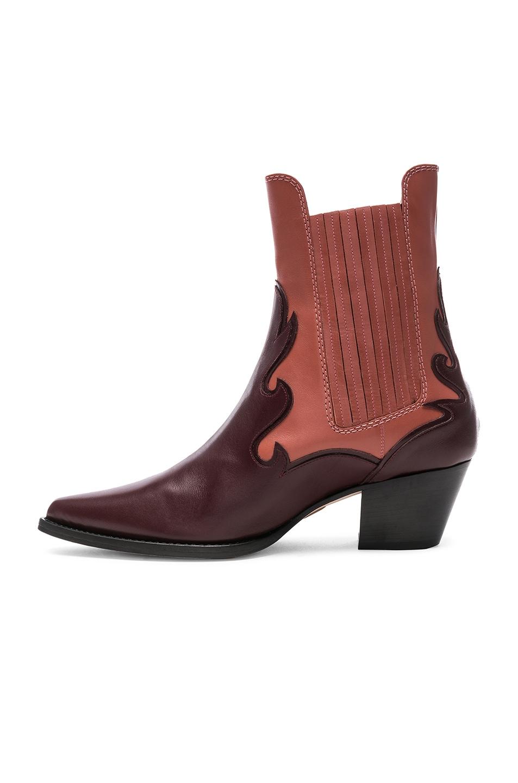 Image 5 of ALBERTA FERRETTI Western Boots in Burgundy & Pink