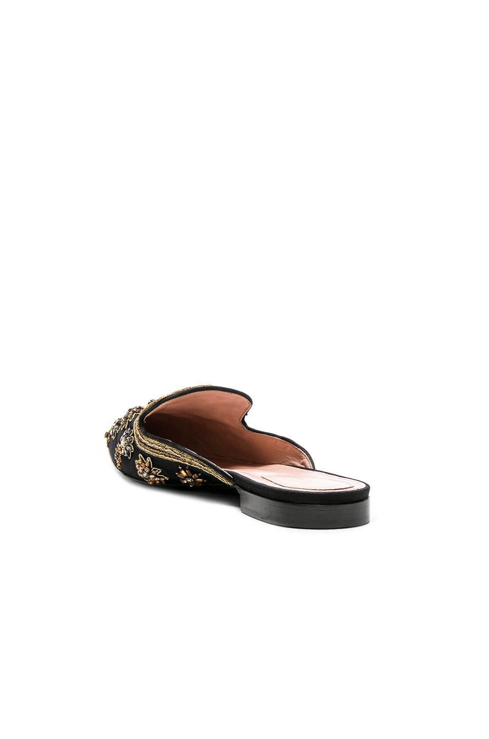 Image 3 of ALBERTA FERRETTI Satin Embellished Mules in Black