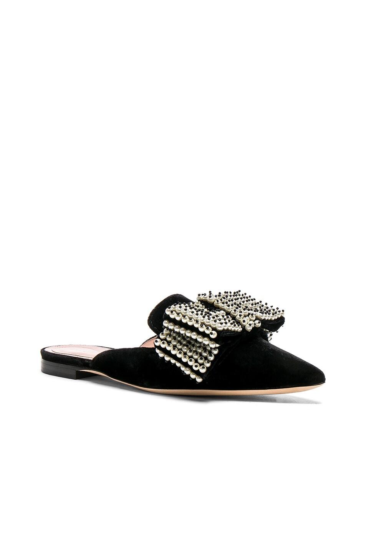 Image 2 of ALBERTA FERRETTI Embellished Velvet Mules in Black