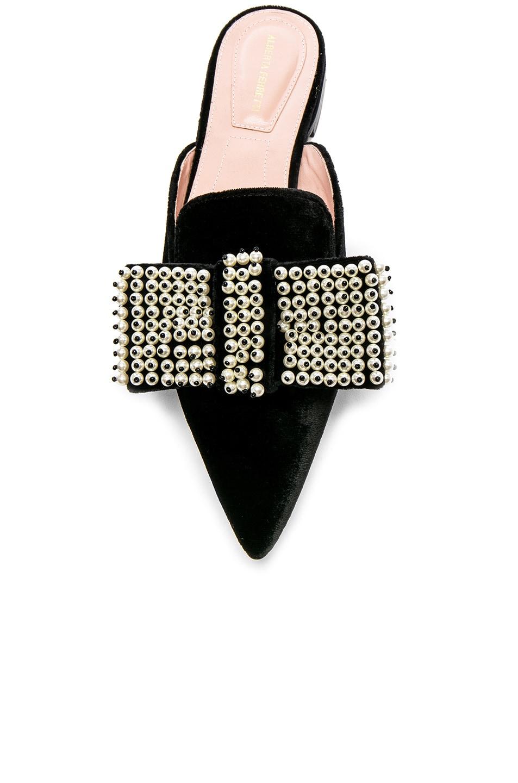 Image 4 of ALBERTA FERRETTI Embellished Velvet Mules in Black