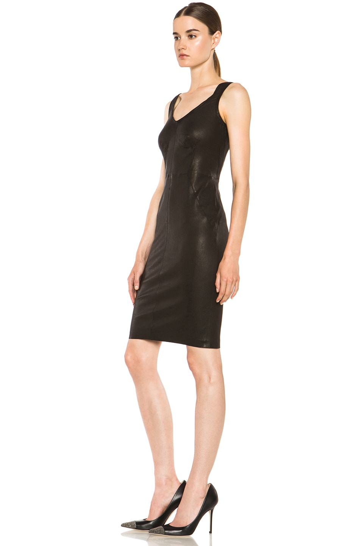 Image 2 Of A L C Parker Leather Dress In Black