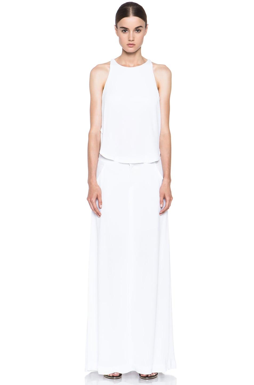 Image 1 of A.L.C. Rolston Viscose Silk Dress in White