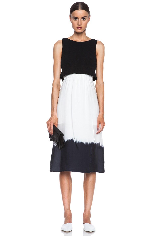 Image 1 of A.L.C. Davis Silk Dress in White & Black